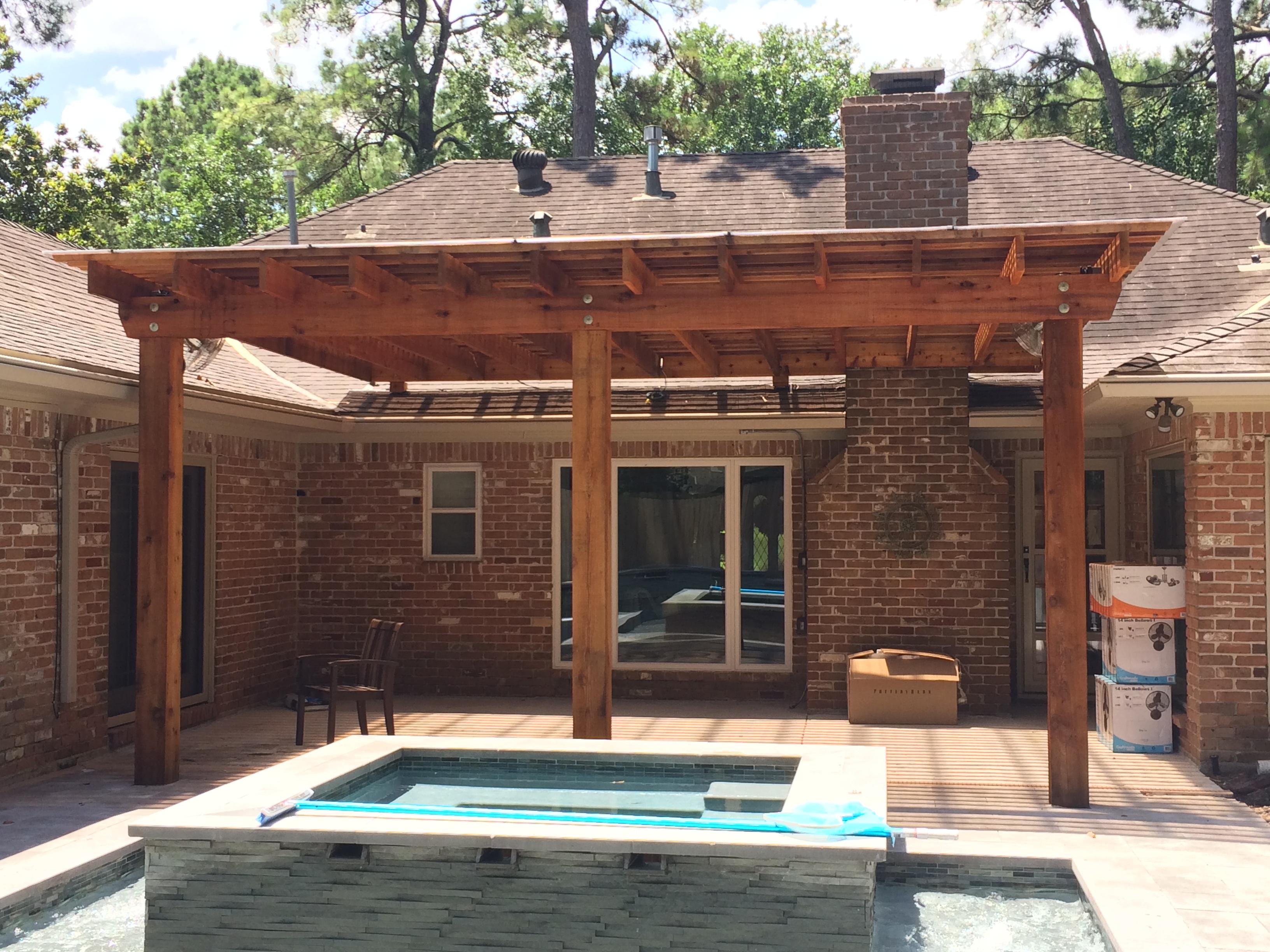 Pergolas houston let decks plus design beautiful for Decks plus
